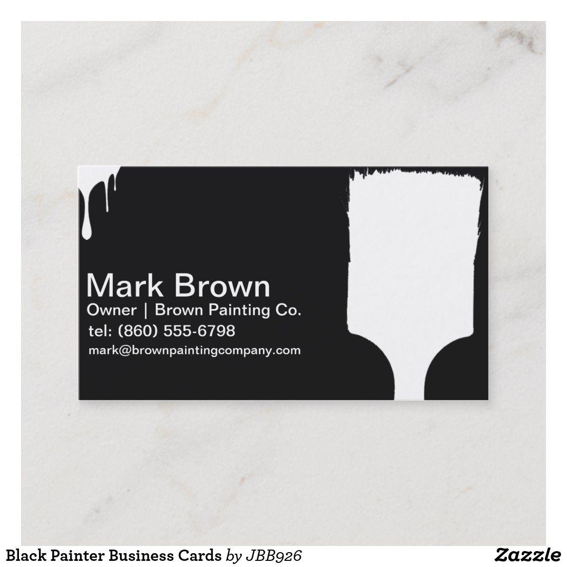 Painter Business Cards Zazzle Com Painter Business Card Free Business Card Templates Elegant Business Cards Design