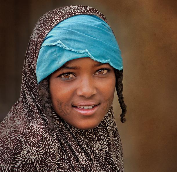 Fulani tribe girl. Gashua, Nigeria.