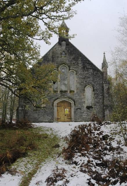 Abandoned Fasnakyle Free Church built in 1868 Cannich, Highlands of Scotland.
