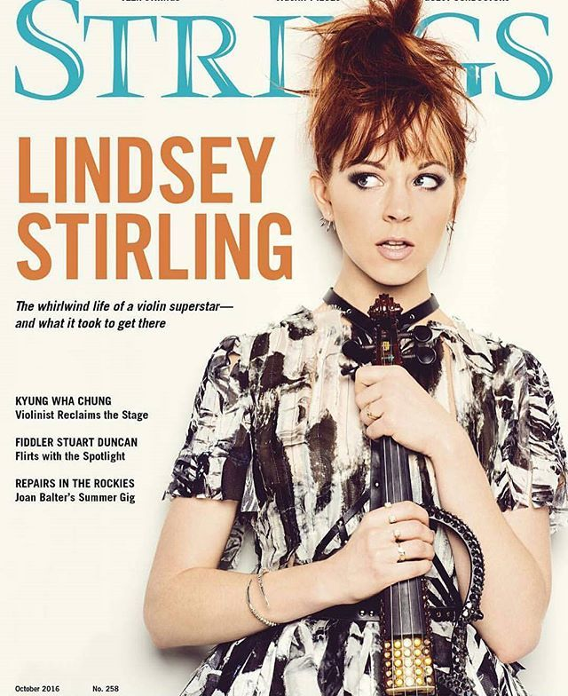 Lindsey is on the cover of the @stringsmagazine's October issue! #lindseystirling #lindsey #violin #violinist #red #orange #cute #pretty #purdy #perfect #beautiful #beauty #sweet #youtube #youtuber #redhead #love #ksll #lindsey #positivity #edm #music #dance #dancer #dancing #lindseylove #braveenough #tour #braveenoughtour #❤