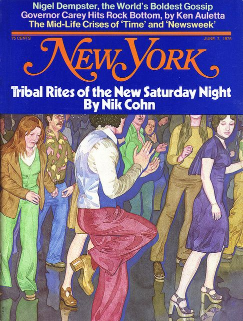 """beatnikdaddio:  mannequinfemme:  Tribal Rites of the New Saturday Night  the article upon which 'saturday night fever' was based.   """