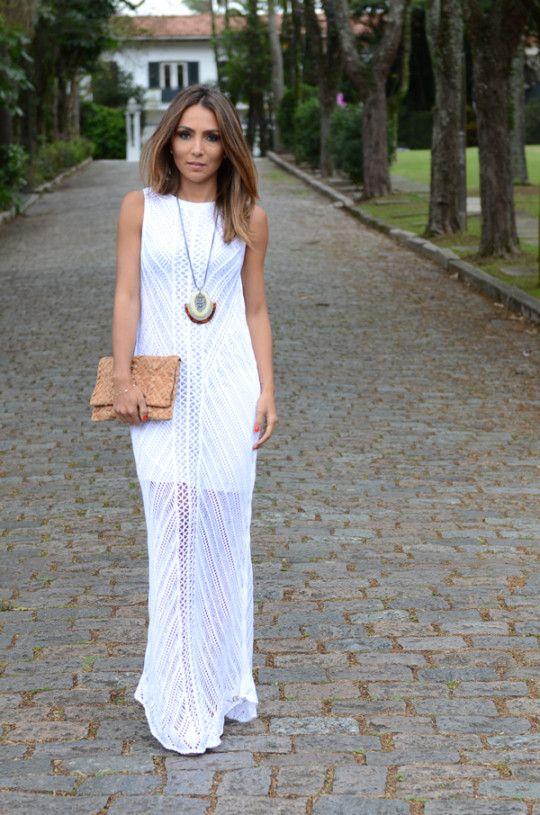 e5a87768c Look do Dia - Longo de Tricô | M A X I | Vestido tricot, Look e ...
