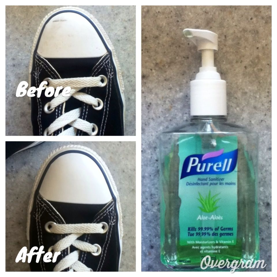 Clean Your Converse With Just Hand Sanitizer And Some Paper Towels