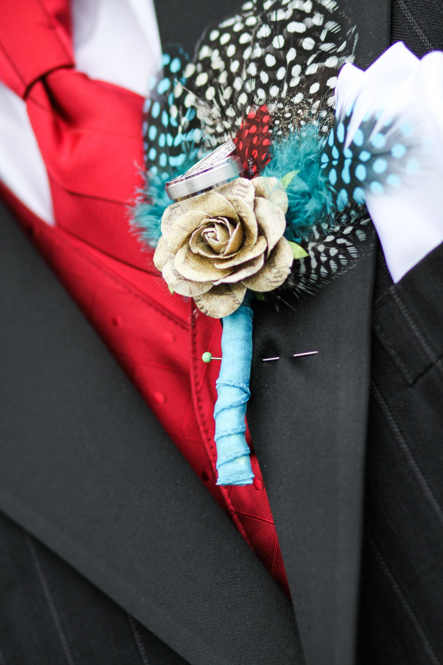 kendra & mike / rockabilly music inspired wedding/ red, teal, blue ...