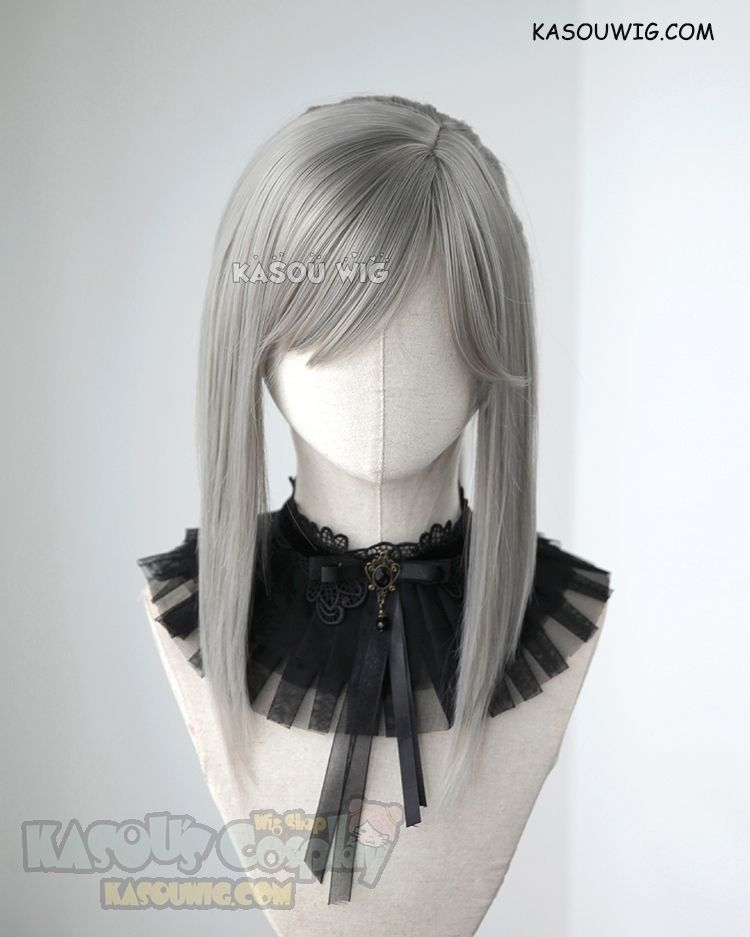 Kasou Wig  Final Fantasy XV Aranea Highwind warm gray pre-styled ponytail cosplay  wig 35f152867