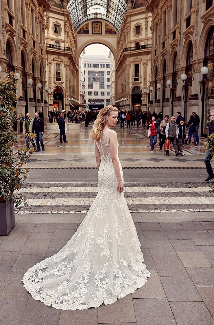 Eddy K Milano Style MD215 - Fit-n-Flare wedding dress | itakeyou.co.uk #weddingdress #wedding #weddingdresses #weddinggown #bridalgown #bridaldress #weddinggowns #engaged