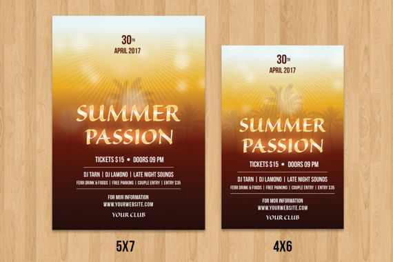 Summer Party Flyer Summer Festival Flyer Template Aniyah\u0027s Sweet - Invitation Flyer Template