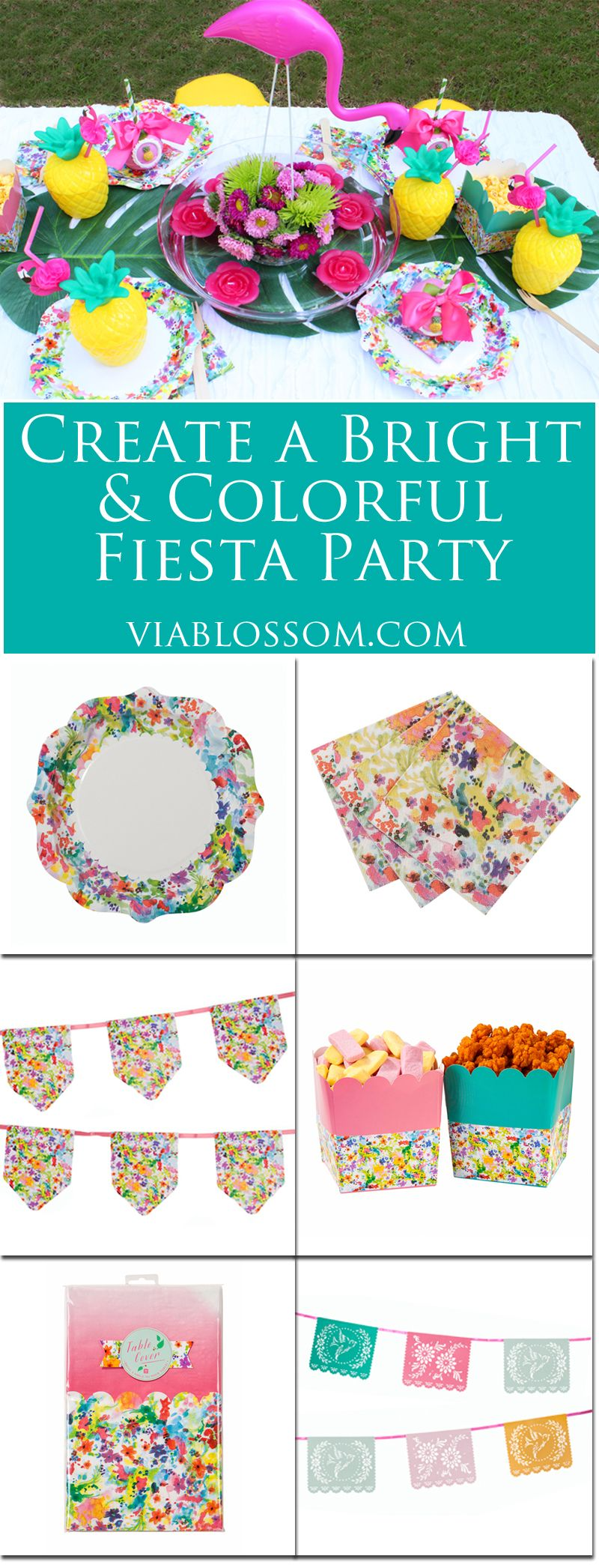 color fiesta party supplies for the best outdoor party ever floral tableware fiesta - Outdoor Party Supplies