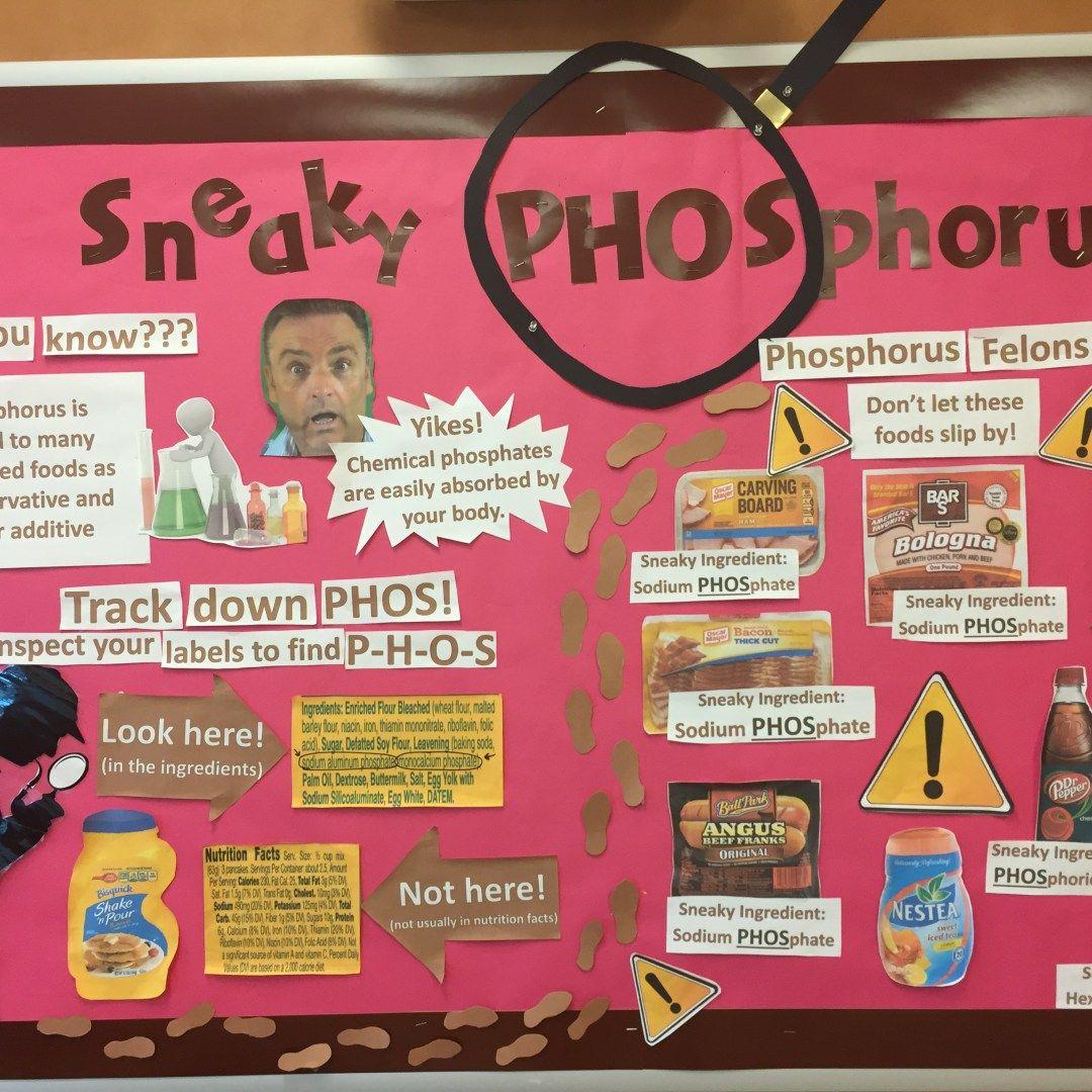 Sneaky Phosphorus Bulletin Board about Phosphate