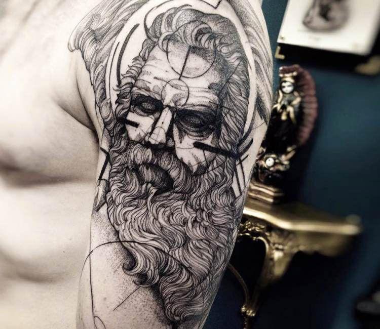 Zeus Tattoo By Fredao Oliveira Post 14436 Zeus Tattoo Greek Tattoos Tattoos