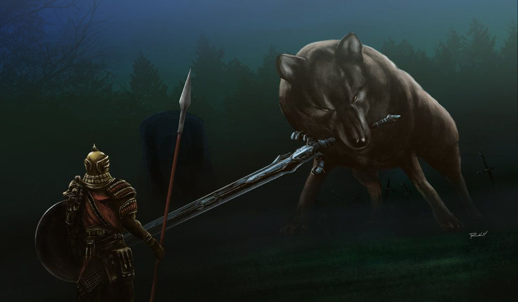 Dark Souls Great Grey Wolf Sif By Oniruu En 2019