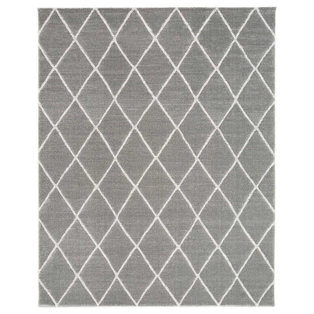 Vantore Rug Low Pile Gray White Diamond Pattern Ikea Rugs