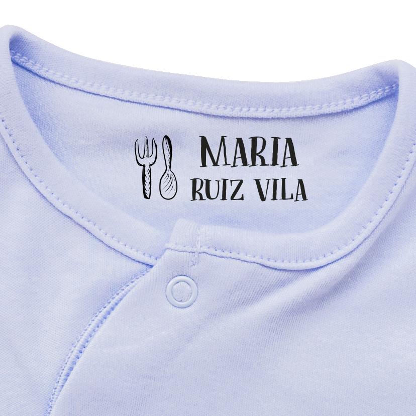 Sello de ropa personalizado Sello de nombre autoentintado personalizado Ropa de uniforme escolar Tela Textil Mark Stamper para ni/ños Camisetas