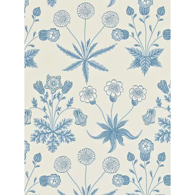 Morris & Co. Bird Daisy Wallpaper, Blue, 212561 Daisy