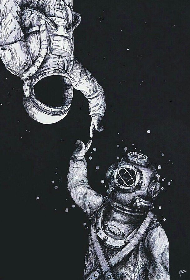 wallpapers trippy astronaut surfer - photo #18