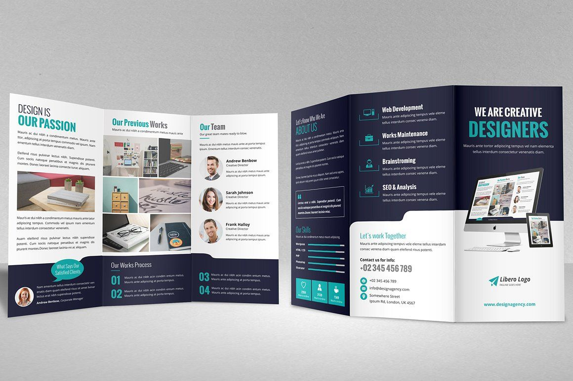 Portfolio Trifold Brochure Design #IDML#Illustrator#version