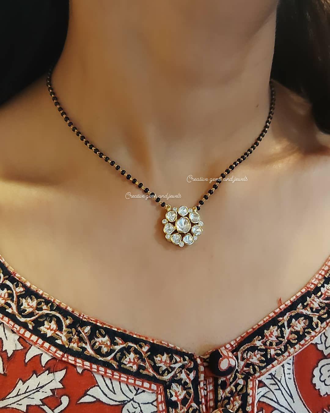 Men Shiny Black Beads Necklace Unisex Black Stones Beads and Gold Pendant Black Necklace Rosary Style for Women Black Japamala