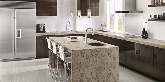 Corian® Riverbed Is Grounded And Earthy, Yet Not Heavy Looking, It Is A