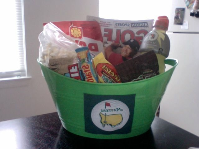 The masters basket i made for my boyfriend because it was the same the masters basket i made for my boyfriend because it was the same weekend as easter hahaha hes a golf freak and loved it negle Images