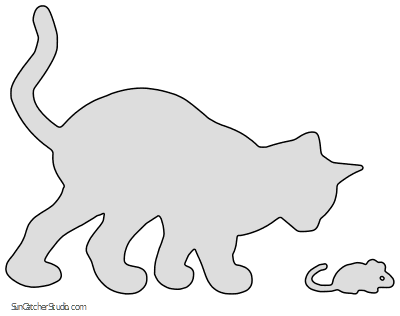 17+ Cat and mouse clipart black and white information