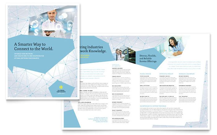Global Network Services Brochure Template Design by StockLayouts - services brochure