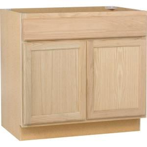 The 36 In Base Cabinet Helps You Bring The Beauty Of Natural Oak To Your Kitchen Laundry R Unfinished Kitchen Cabinets Home Depot Kitchen Home Depot Bathroom