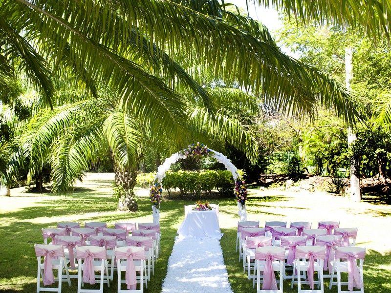 Lush Garden Wedding Barcelo Bavaro Beach Punta Cana