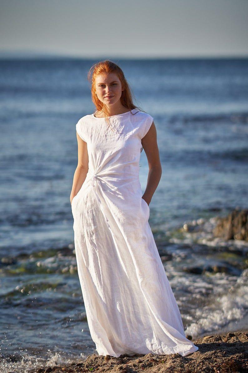 Linen Maxi Dress White Maxi Dress White Linen Dress Linen Etsy Maxi Dress Summer Linen Dresses Linen Dresses [ 1191 x 794 Pixel ]