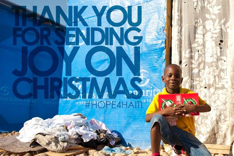 Christmas operationchristmaschild hope4haiti canada