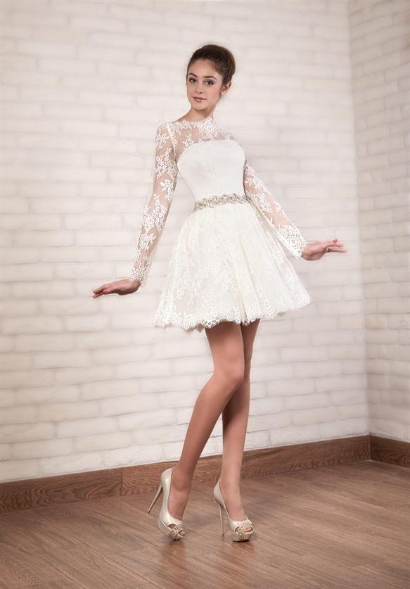 c6bb006401a Короткое белое платье (80 фото)  пышное