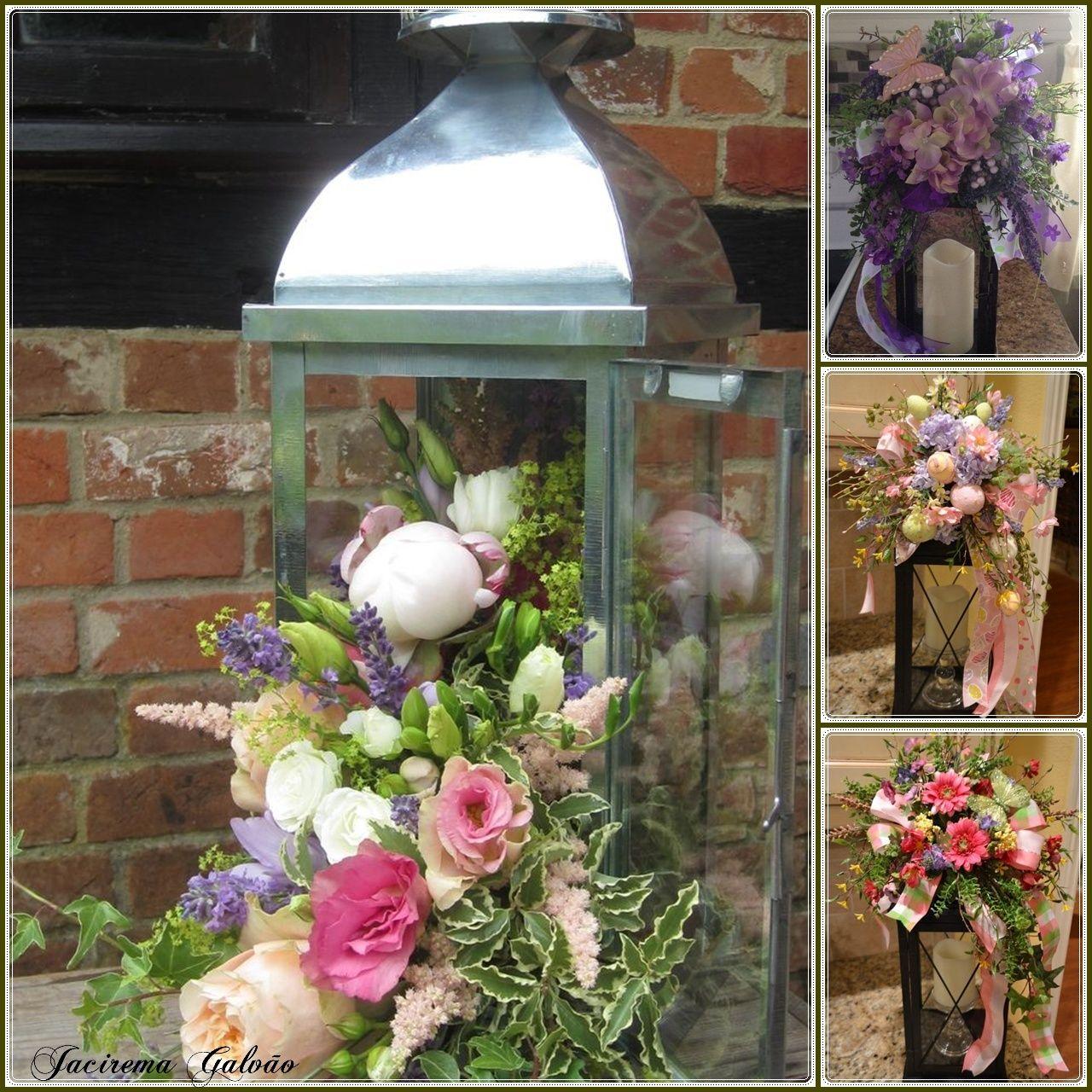 Lanternas com flores