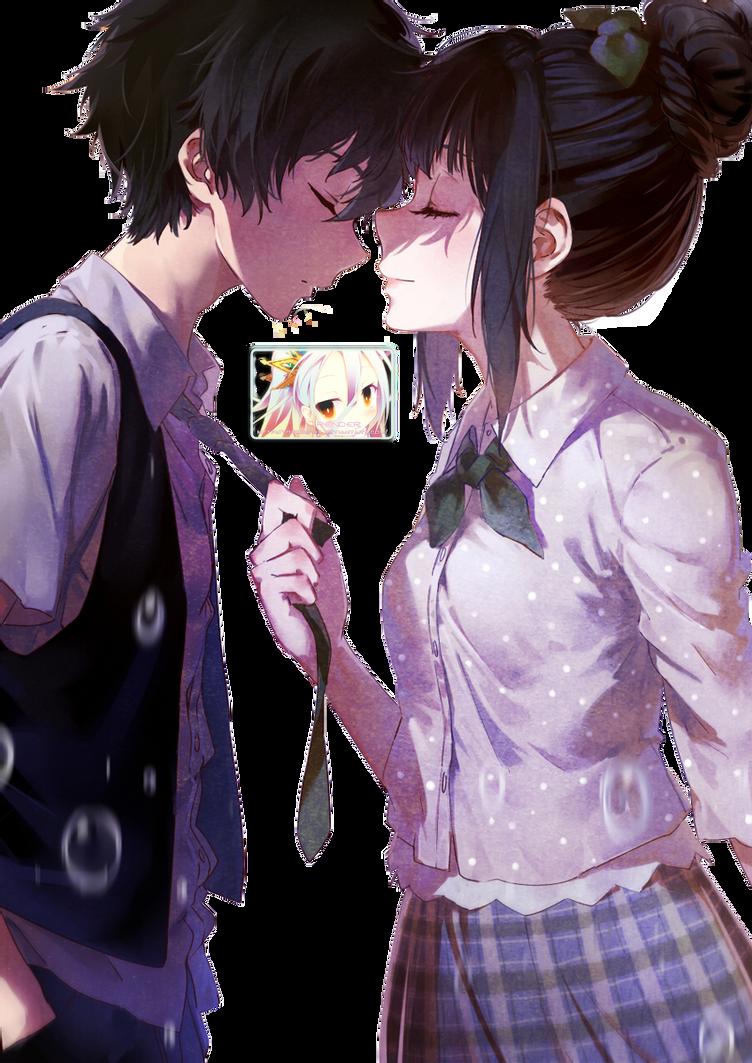 Chitanda And Oreki Render by DeathToTotoro on DeviantArt