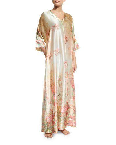 Wonderland Silk Caftan Nightgown