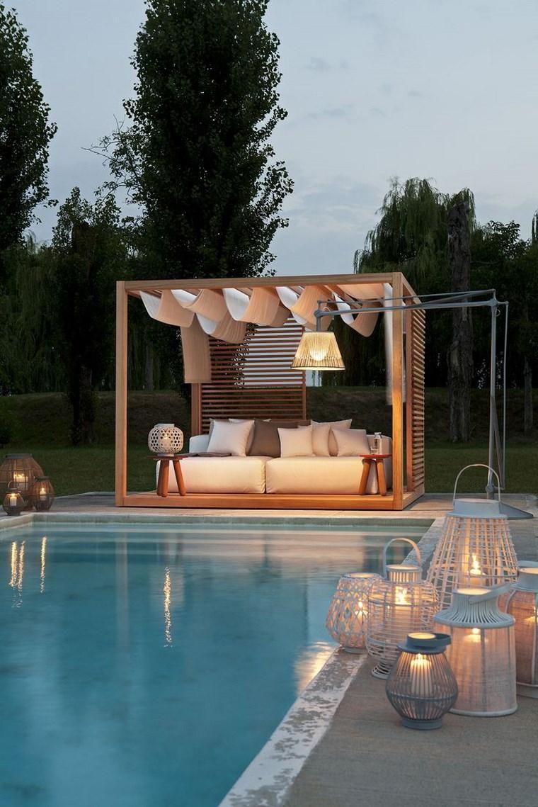 Lampen Und Originelle Beleuchtung Fur Draussen Pool Dekor Outdoor Dekorationen Hinterhof Pool Landschaftsbau