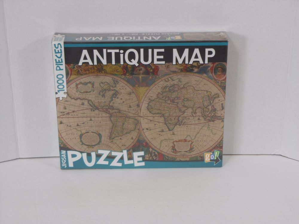 Jigsaw puzzle classic antique world map 1000 pieces new in box jigsaw puzzle classic antique world map 1000 pieces new in box sealed 29x19 gogames gumiabroncs Gallery