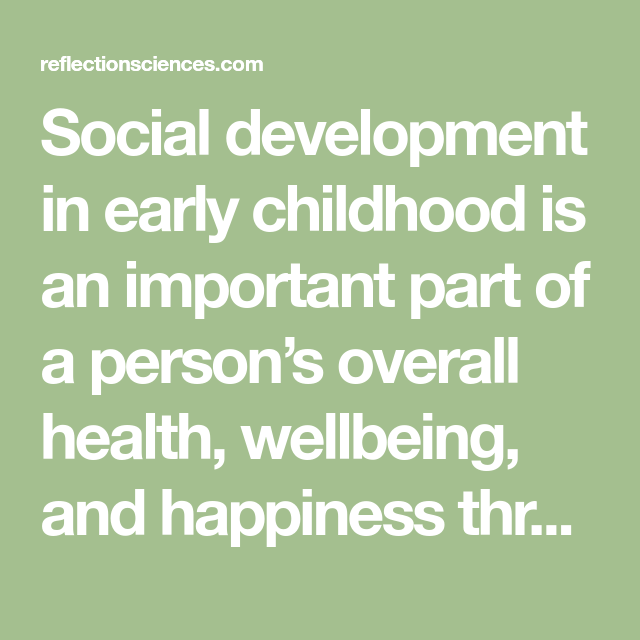 importance of health and wellbeing in the early years
