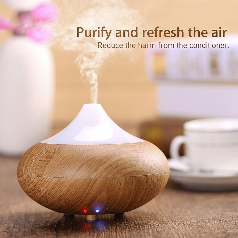 ultrasonic humidifier essential oil diffuser LED Light 7 Color ...
