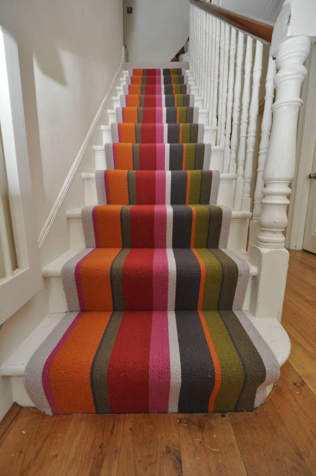 Best Striped Multi Coloured Stair Runner By Bowloom Ltd Www 400 x 300
