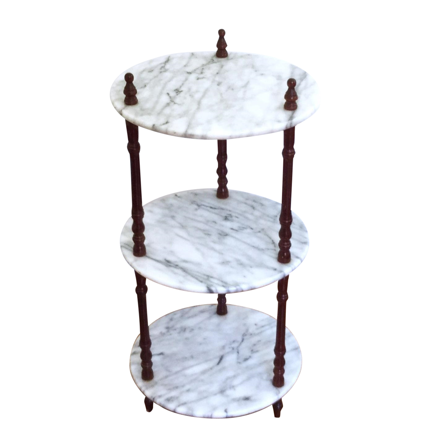 I Have 3 And I M Still Trying To Figure Out How To Make Them Work Mid Century 3 Tier Marble Table Plant Stand On Chairish Marble Table Table Trending Decor
