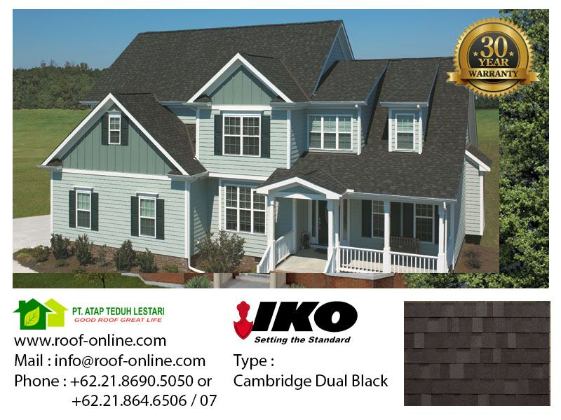 Best Iko Cambridge 30 Dual Black 30 Years Warranty 400 x 300
