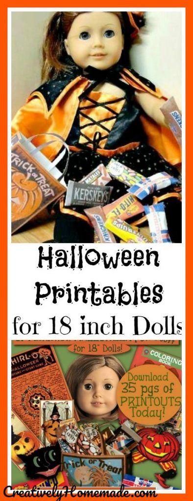American Girl Doll Halloween Printables Halloween printable, Ag - halloween decoration printouts