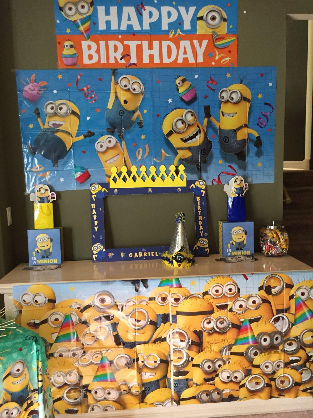 minion decorations  happy birthday minions minions