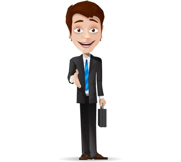 Free Businessman Cartoon Character Garotas Personagem Desenho