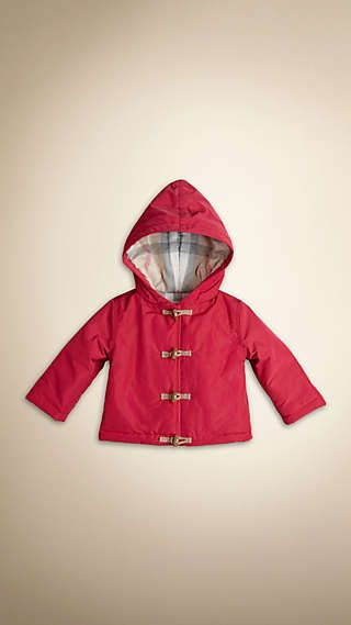 Check-Lined Hooded Rain Jacket d0e340eb236e