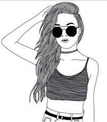 Resultado de imagen de dibujos faciles de chicas tumblr mi mundo