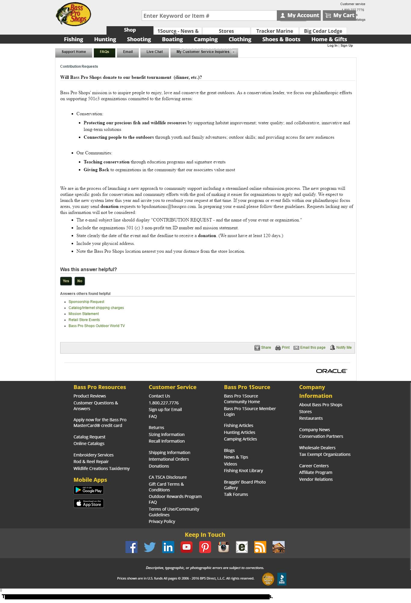 Bass Pro Shops Donation Info And Form HttpWwwBassproCom