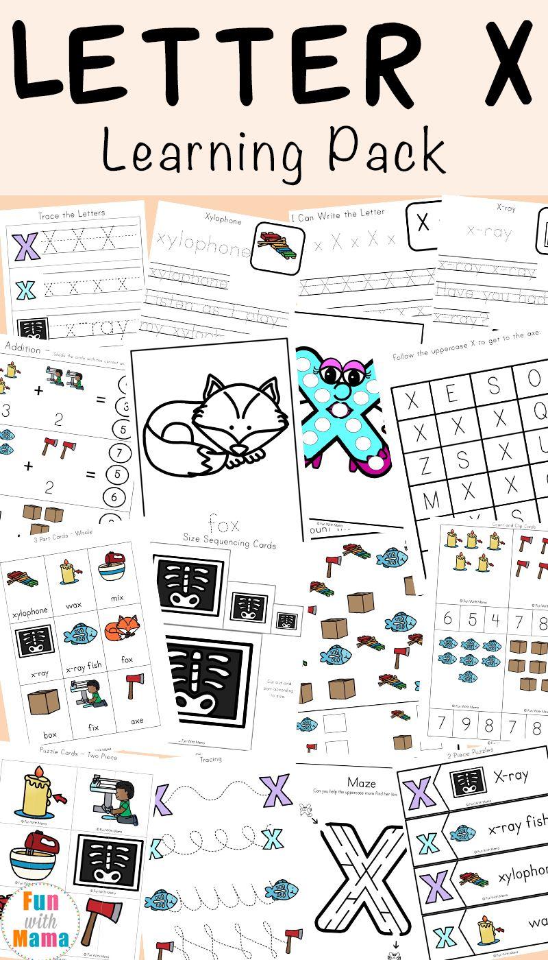 Letter X Worksheets For Preschool Kindergarten Fun With Mama Preschool Letters Kindergarten Worksheets Kindergarten Letters [ 1400 x 800 Pixel ]