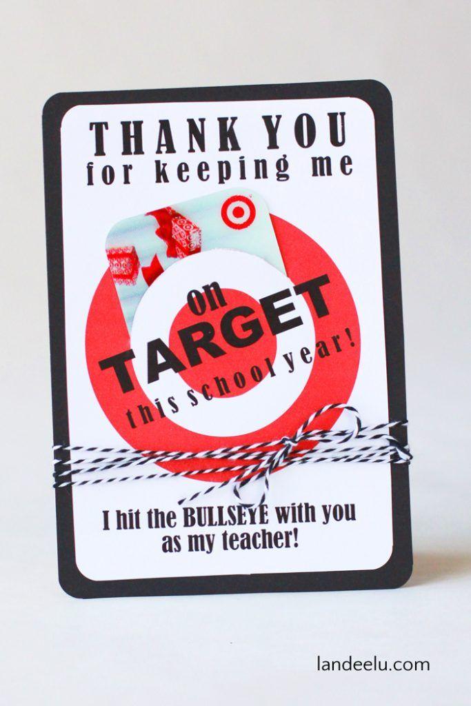 Teacher Appreciation Gift Idea Target Gift Card Holder