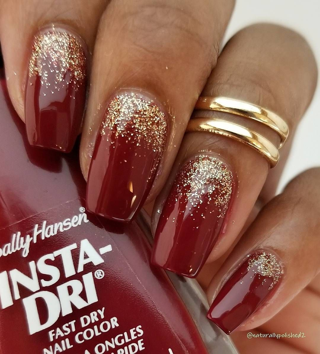 Red Nail Polish Nails Brown Skin Dark Manicure