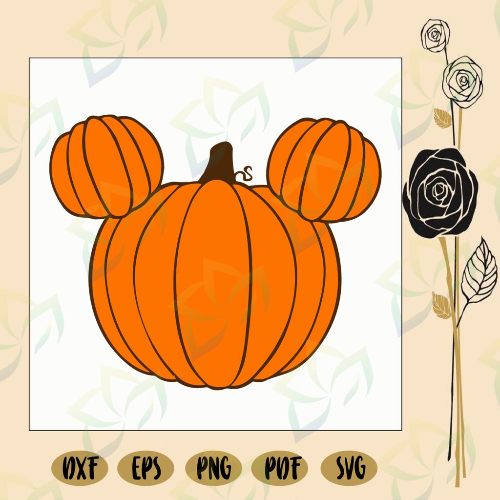 Mickey mouse pumpkin, mickey mouse svg, mickey svg, love